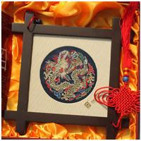 Brocade brocade headframe dragons small gift commercial gift