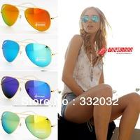 Hot Sales !!!2014NEW Brand woman Sunglasses men  Fashion Unisex Sunglasses Aviators  Glasses cycling eyewear