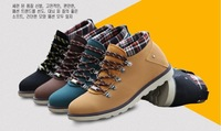 Winter Men's Sneakers Shoes Warmness High-Top and Height Increasing Men's Shoes