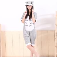 Hot sales New cartoon piece pajamas Animal cotton pajamas Short-sleeved summer Couple style sleepwear  S M L XL Totoro