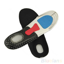 Free Size Unisex Orthotic Arch Support Shoe Pad Sport Running Gel Insoles Insert Cushion for Men Women(China (Mainland))