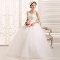 2013 tube top lace double-shoulder get married high waist sweet straps wedding dress V-neck