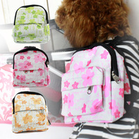 Flower Pattern Canvas Dog Bags Backpacks For Small Dogs 2014 New Pets Products Supplies Free Shipping,S~L