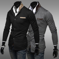 Men's Overcoat  Slim Single Row of Buttons Solid Suit 2013 New Arrival Free Shipping Whole Sale MWX063