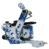Series tattoo gun professional steel blue and white ceramic porcelain tattoo machine professional tattoo equipment