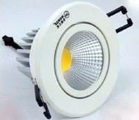 Free shipping 3w cob led downlight 85-265v 270lm Aluminum materail High quality bathroom light