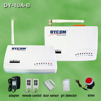 wireless home security GSM alarm system Access Control wireless DY-GSM10A-B wired 850/900/1800/1900MHZ support chinese/english