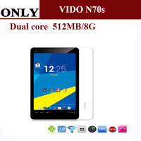 Vido N70S 7 inch Android 4.2 tablet PC RK3026 Dual Core 1.0GHz 512MB RAM 8GB ROM Webcam WIFI OTG