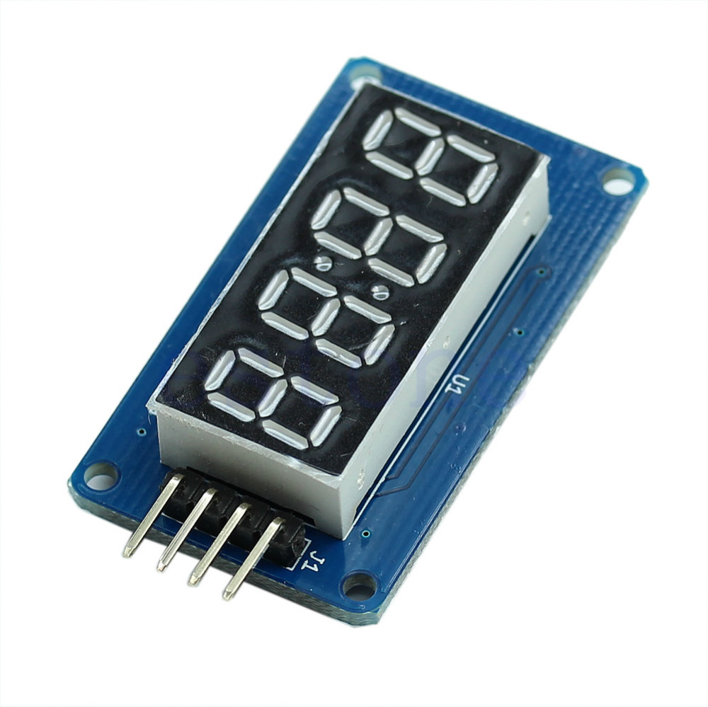 4 Bits Digital Tube LED Display Module With Clock Display Board For Arduino DIY(China (Mainland))