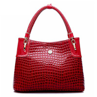 Ms new leather handbag bag fashion single shoulder bag leisure crocodile grain women messenger bag dinner packages C10590