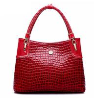 Ms new leather handbag bag fashion single shoulder bag leisure crocodile grain women messenger bag dinner packages C10590
