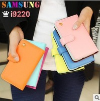 Fashion Crown Leather Flip Wallet Case Skin Cover for Samsung Galaxy Note i9220 N7000 with Cards Slot, DHL Free Shipping (SX211)