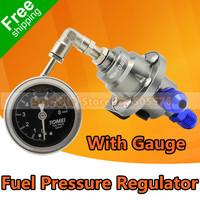 TOMEI Fuel Pressure Regulator , Fuel Regulator with Original Gauge Type S Titanium Adjustable Style + Free Shipping