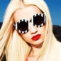 House of holland fashion black white stripe striped zebra sunglasses vintage retro sunglass oculos de sol glasses women 131214