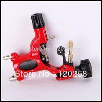 2014  FREE SHIPPING Pro Dragonfly Rotary Motor Tattoo Machine Gun Liner & Shader Supply tattoo kits  Red
