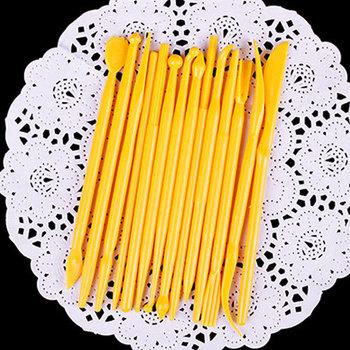 14 шт. фондант торт моделирование ремесло украшения цветок глины Sugarcraft комплект инструментов # 31619