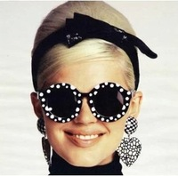 fashion House of holland polka dot desinger brand classic  women sunglasses sunglass glasses oculos de sol  7 colors 131215