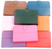 """Free Shipping  PU Leather Case Cover for 9.7"""" Tablet PC MID  9.7""""  tablet universal case+Free screen protector+dust plugs"""