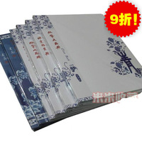 Hot sale Blue and white porcelain Print Chinese Style Coin Album money Collection Book Holders 20 Pages 120 Units