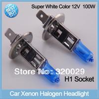 2pcs/lot H1 super white xenon H1 led car headlight bulbs 12V 100W car parking light halogen lamp auto HID kit 20017C
