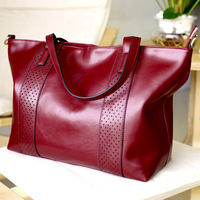 2013 fashion genuine leather shoulder bag large capacity commercial women's handbag vintage classic brief