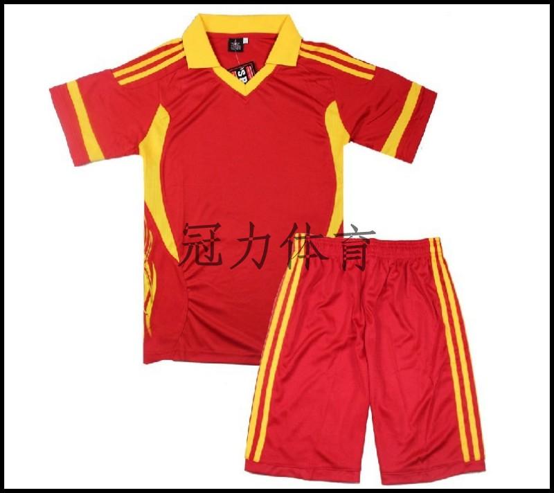 Blank football training services soccer jersey football clothing short-sleeve set child paragraph(China (Mainland))