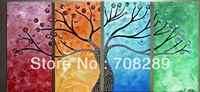 Free shipping 120X70 Lucky tree 100% hand painted modern abstract art oil painting on canvas living room home decor wall picture