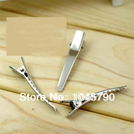 Free Shipping 200X 45mm Sharp Mouth Alligator Clips Hair Grips Craft Making DIY(China (Mainland))