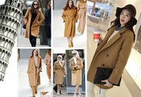 2013 Free Shipping Wholesale OCCIDENT BRAND Super Good Looking Fashion Concise Slim Fit Long Sections Woolen Coat and Jacket