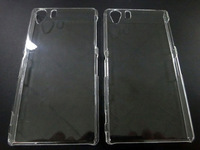 Transparent Hybrid Plastic Crystal Hard Back Case for Sony Xperia Z1100pcs/lot Free Shippping