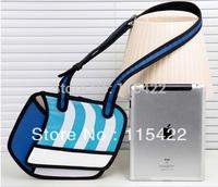 new designed women 3d cartoon shoulder bag 2d 3d comic messenger bag free shipping