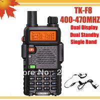 DHL FREE shipping + Free Earphone TYT TH-F8 TK-F8 radio transceiver 5W Dual Standby Dual Display TKF8 amateur radio