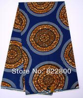 African hollandais wax print fabirc,100% cotton ankara wax fabirc for nigeria wedding/party, free shipping,6 yards/lot,H3168