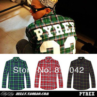 Monkey King 2014 new high quality!Pyrex 23 digital yezzy fashion basketball sports baseball plaid shirt hba