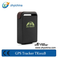 shock sensor /Geo-fence/Movement/Overspeed/Low battery Alarm personal gsm/gps tracker TK102B with cigarette car charger and IMEI