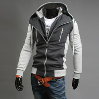 Mrpk 2013 autumn and winter color block faux two piece sweatshirt male 375p50