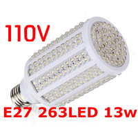 110V Warm White E27 263 SMD 13w LED Spot Corn Light Bulb Lamp Energy Saving Free Shipping Wholesale