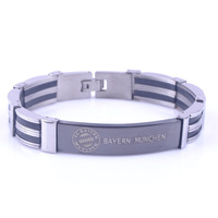 Popular Europen Football Club Stainless Steel Bracelet Gifts