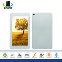 Free shipping SF-YMI5 6.5 inch capacitive touch screen MTK6572 Dual Core Single Sim android 4.2 WIFI Bluetooth 3G tablet pc