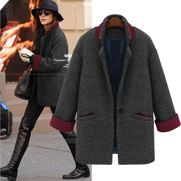 Зима длинный рукав женщины в парка пальто верхняя одежда типа парня негабаритных пальто