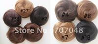 100%  human hair  hihg quality Pony Tail Hair Extension Bun Hair piece Scrunchie+Free shipping