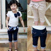 Girl's Bow Shorts Summer Casual Shorts Wholesale 5 Pcs / Lot Free Shipping Kids Trousers