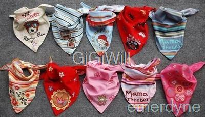 New 2014 5pcs Baby Gir Boy Kid Bandana Bibs Saliva Towel Dribble Triangle Head Scarf(China (Mainland))