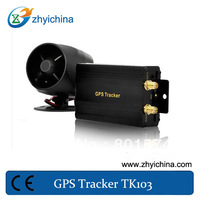 Track by time and distance internal monitor gps mobile phone tracker TK103A with SD card and shock sensor