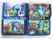 Free shipping 24pcs Monsters University  Wallets Purses fashion wallet Wholease