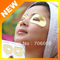 New Wholesale 10 pairs/lot Crystal Collagen Gold Powder Eye Mask Anti-aging, Anti wrinkle moisture Eyes Care Free Shipping
