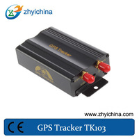 Track by time and distance internal monitor gps car vehicle tracker TK103A with SD card and shock sensor