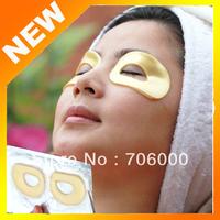 New Wholesale 100 pairs/lot Crystal Collagen Gold Powder Eye Mask Anti-aging, Anti wrinkle moisture Eyes Care Free Shipping