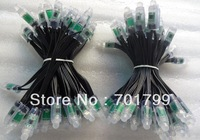 DC5V 50nodes TLS3001 pixel light;12mm diameter;IP68 rated;4096 gray scale;all black wire;epoxy resin filled
