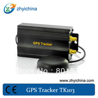 Track by time and distance internal monitor gps signal tracker TK103A with SD card and shock sensor